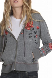 Driftwood Teddy Zip-Up Jacket - Front cropped