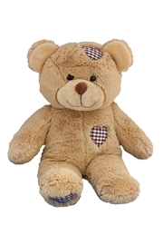 Teddy Mountain Make-Your-Own Brown Patches Bear Kit - Product Mini Image