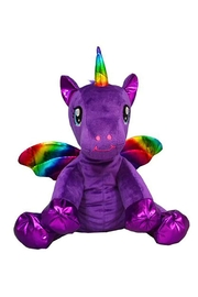 Teddy Mountain Make-Your-Own Purple Unicorn Kit - Front full body