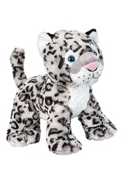 Teddy Mountain Make-Your-Own Snow Leopard Kit - Front full body