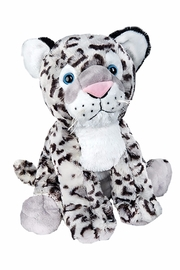 Teddy Mountain Make-Your-Own Snow Leopard Kit - Front cropped
