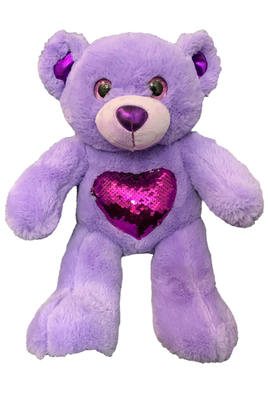 Teddy Mountain Purple Bear - Front Cropped Image