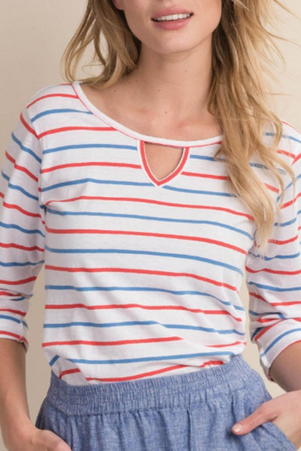 Hatley Tee 3/4 Sleeve - Front Cropped Image