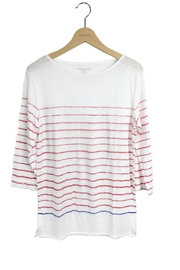 Majestic Filatures Tee Red Stripe - Product Mini Image