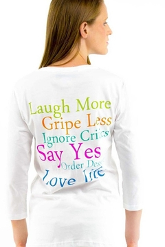 Gretchen Scott 3/4 sleeve crew neck message tee - Product List Image