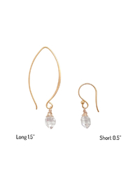 Bronwen Teeny Crystal Earrings Long - Product Mini Image