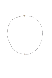 Bronwen Teeny Crystal Necklace - Front cropped
