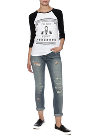 Tees and Tank You Wednesday Addams Tee - Front full body