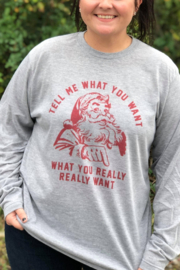 Lyn -Maree's Tell Me What You Want Santa Long Sleeve Tee - Product Mini Image
