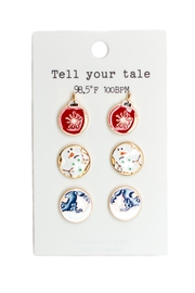 Tell Your Tale Christmas Earrings Set - Product Mini Image
