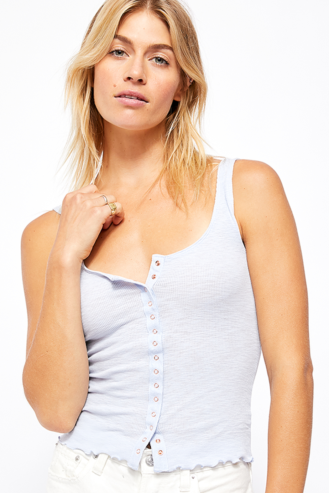 Free People Tellin' Me Tank - Front Cropped Image