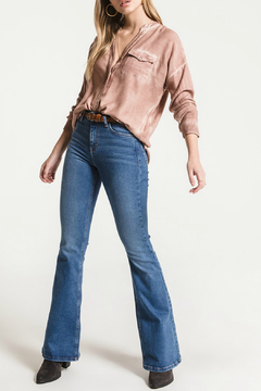 Shoptiques Product: Tempe Soft Knit Collarless Blouse