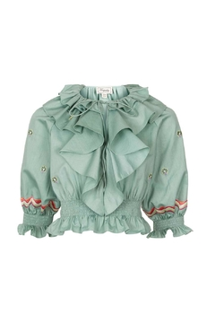 Shoptiques Product: Embroidered Cropped Top