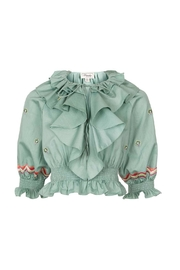 Temperley London Embroidered Cropped Top - Product Mini Image