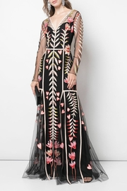 Temperley London Long-Sleeve V-Neck Dress - Product Mini Image
