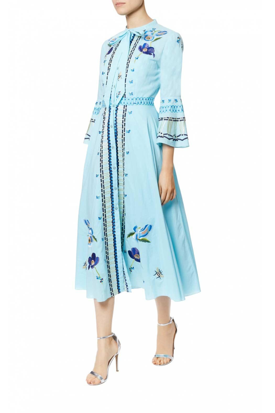 Temperley London Neck Tie Dress - Front Cropped Image
