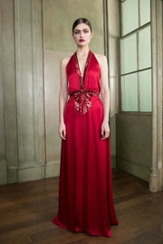 Temperley London Satin-Crepe Halter Gown - Product Mini Image