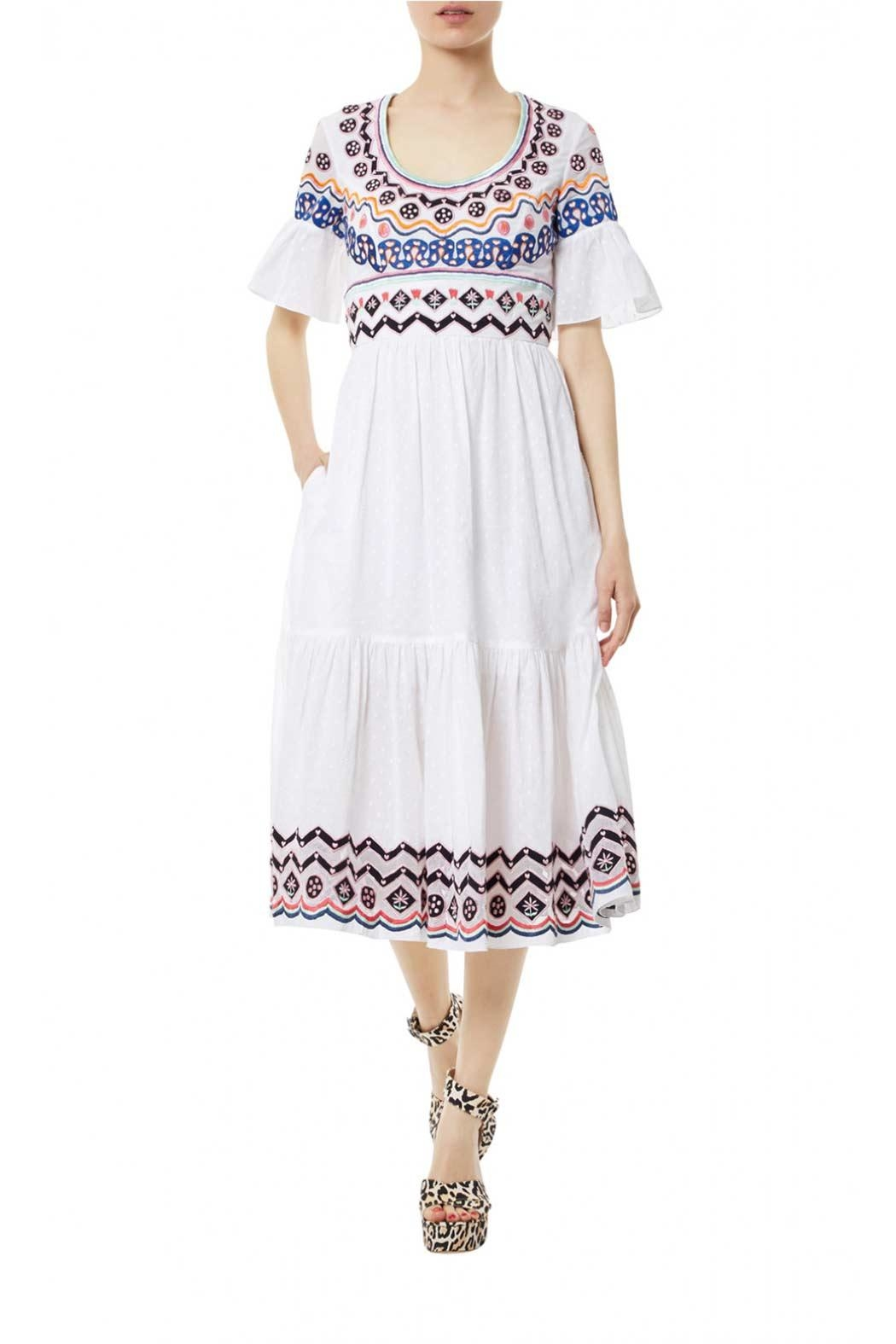 Temperley London Stitchwork Midi Dress - Front Cropped Image