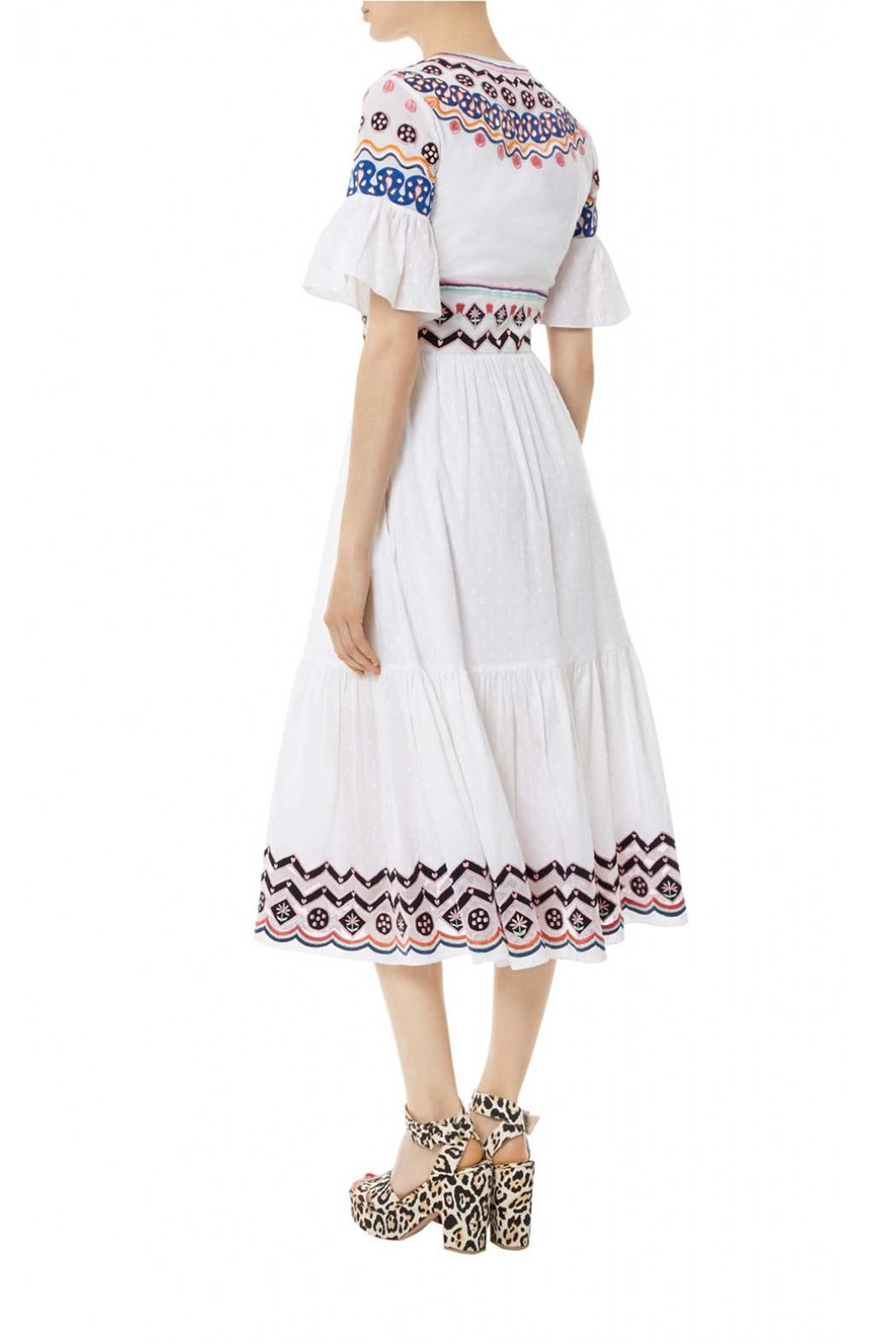 Temperley London Stitchwork Midi Dress - Side Cropped Image