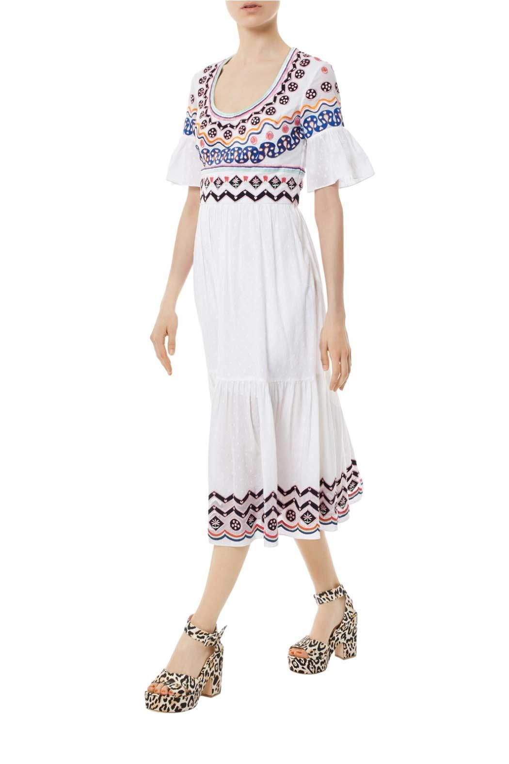 Temperley London Stitchwork Midi Dress - Front Full Image