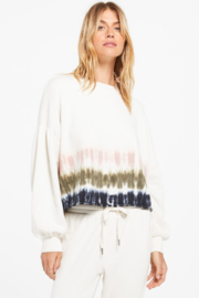 z supply Tempest Stripe Tie Dye Crew - Front cropped