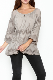Tempo Paris Embroidered Silk Top - Product Mini Image