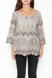 Tempo Paris Embroidered Silk Top - Front full body