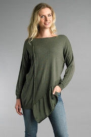 Tempo Paris Asymmetrical Relaxed Sweater - Product Mini Image