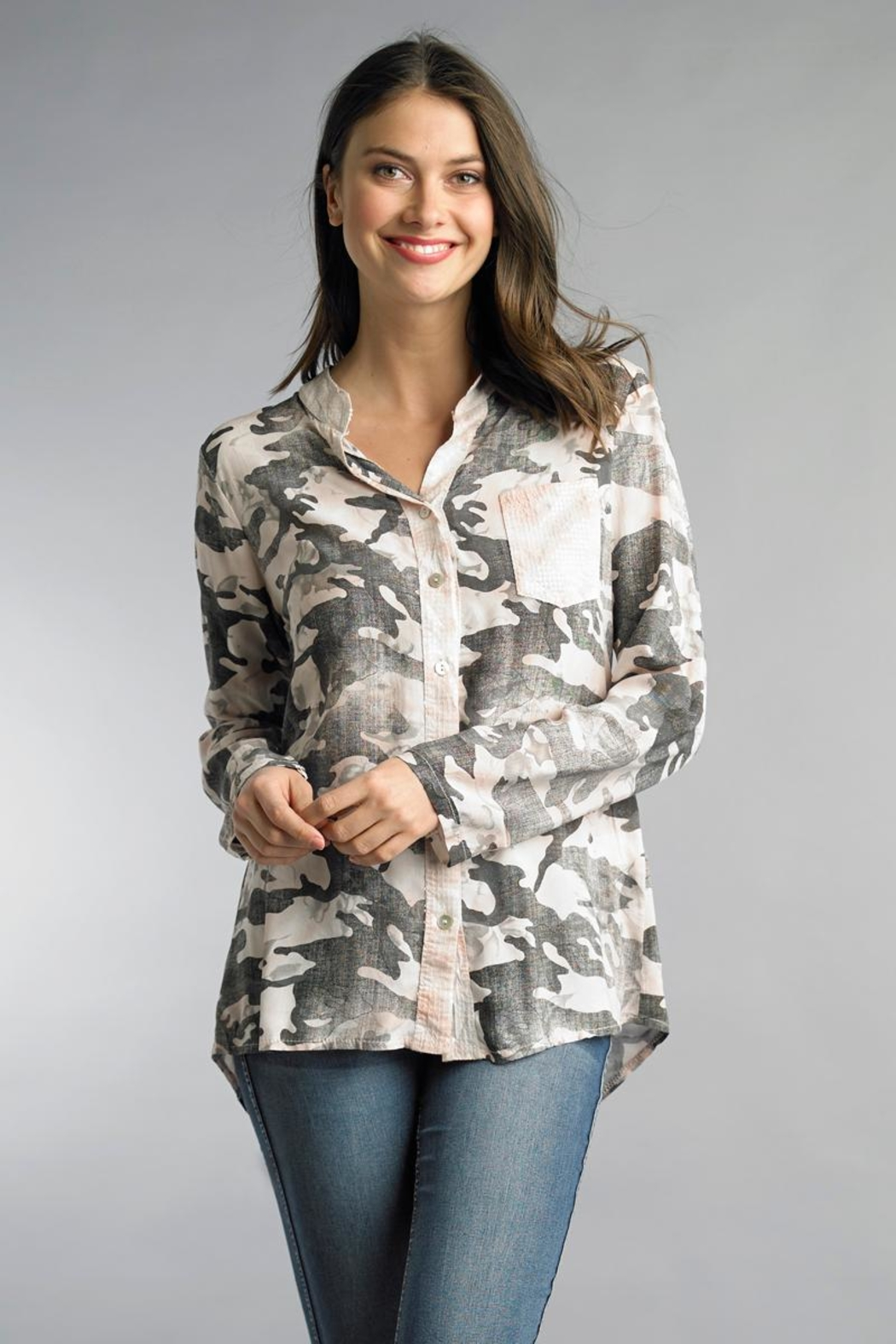 Tempo Paris Camo Sequin Tunic - Main Image