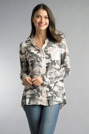 Tempo Paris Camo Sequin Tunic - Front cropped