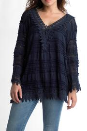 Tempo Paris Crochet Tunic Top - Product Mini Image