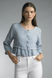 Tempo Paris Crop Ruffle Jacket - Product Mini Image