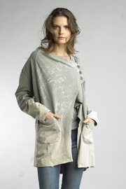 Tempo Paris Dip-Dye Asymmetrical Jacket - Product Mini Image
