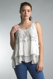 Tempo Paris Embroidered Layer Tank - Product Mini Image