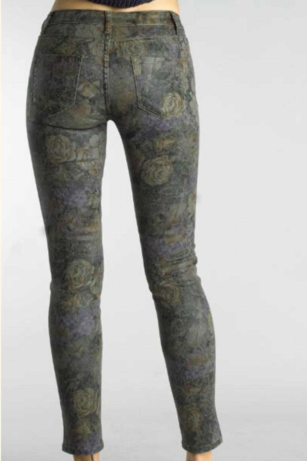 Tempo Paris Floral Abstract Pant - Front Full Image