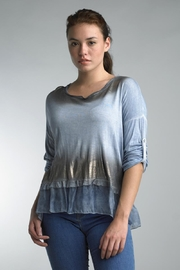 Tempo Paris Gold Ombre Top - Product Mini Image