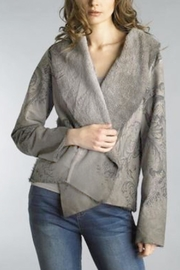 Tempo Paris Grey Pattern Coat - Product Mini Image