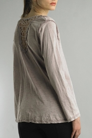 Tempo Paris Lace Henley Tee - Front full body