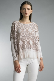 Tempo Paris Lace High-Lo Top - Front cropped