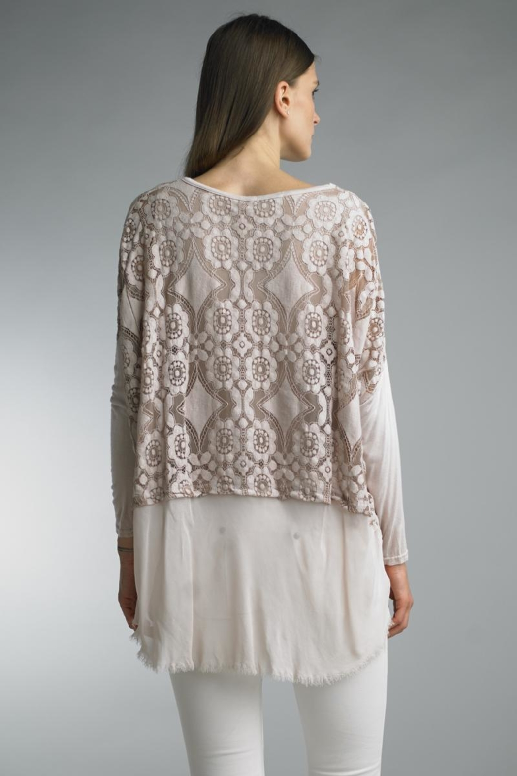 Tempo Paris Lace High-Lo Top - Front Full Image