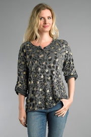 Tempo Paris Metallic Cheetah Sweater - Front cropped