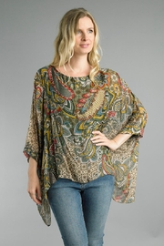 Tempo Paris Paisley Poncho Blouse - Product Mini Image