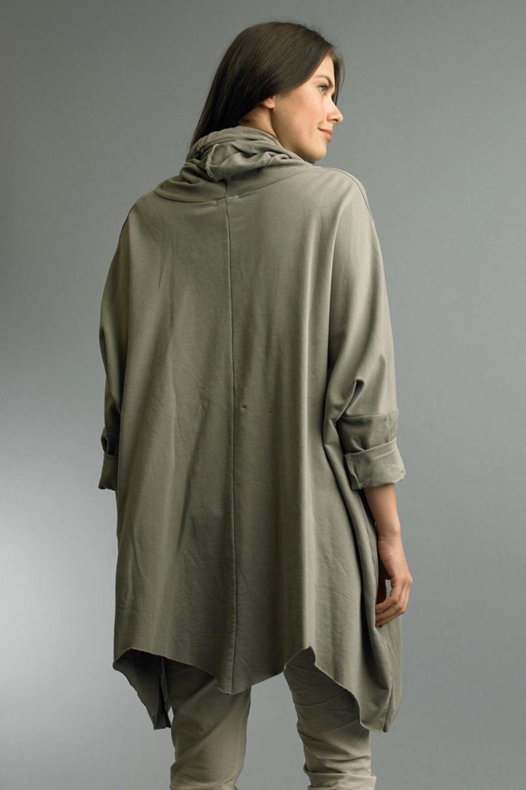Tempo Paris Roll Neck Poncho - Front Full Image