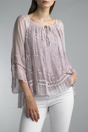 Tempo Paris Silk Lace Top - Product Mini Image