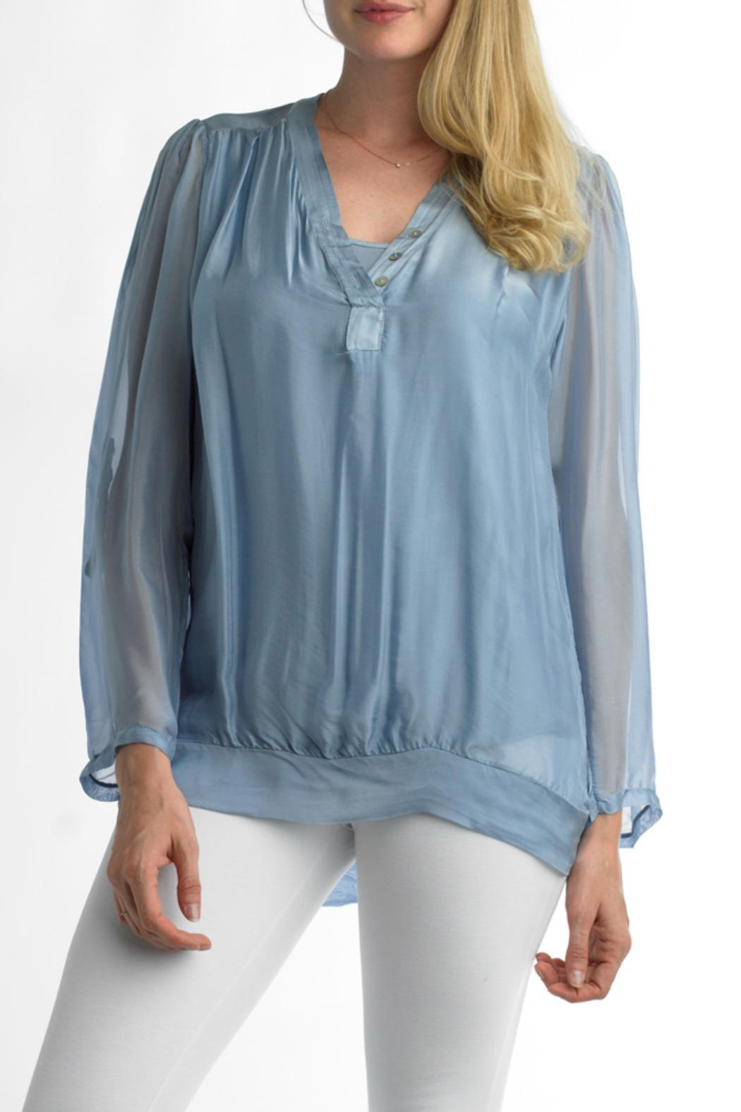 Tempo Paris Silk Top Lined - Front Cropped Image