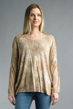 Tempo Paris Tie-Dye Relaxed Sweater - Alternate List Image
