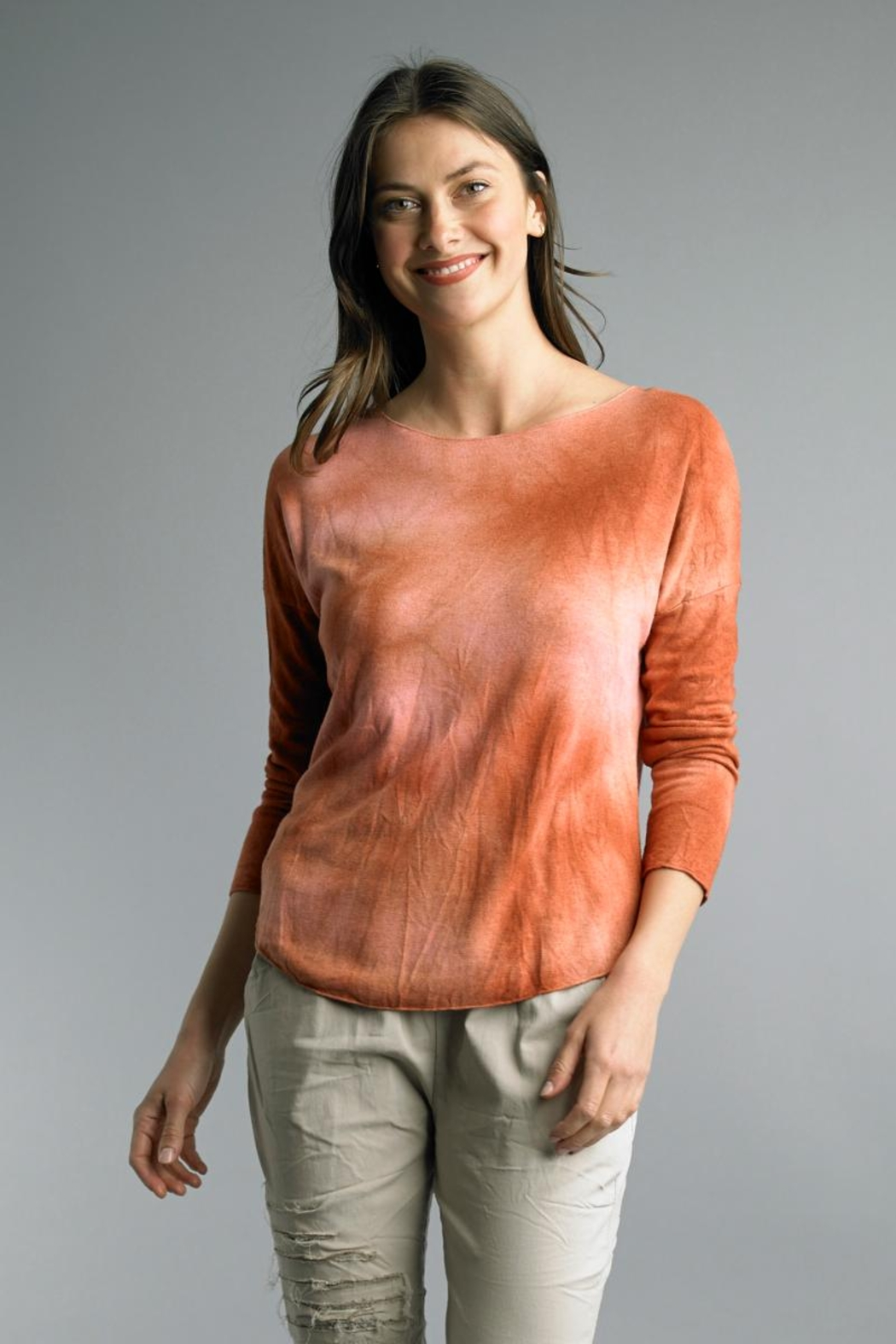 Tempo Paris Tie Dye Relaxed Top - Main Image