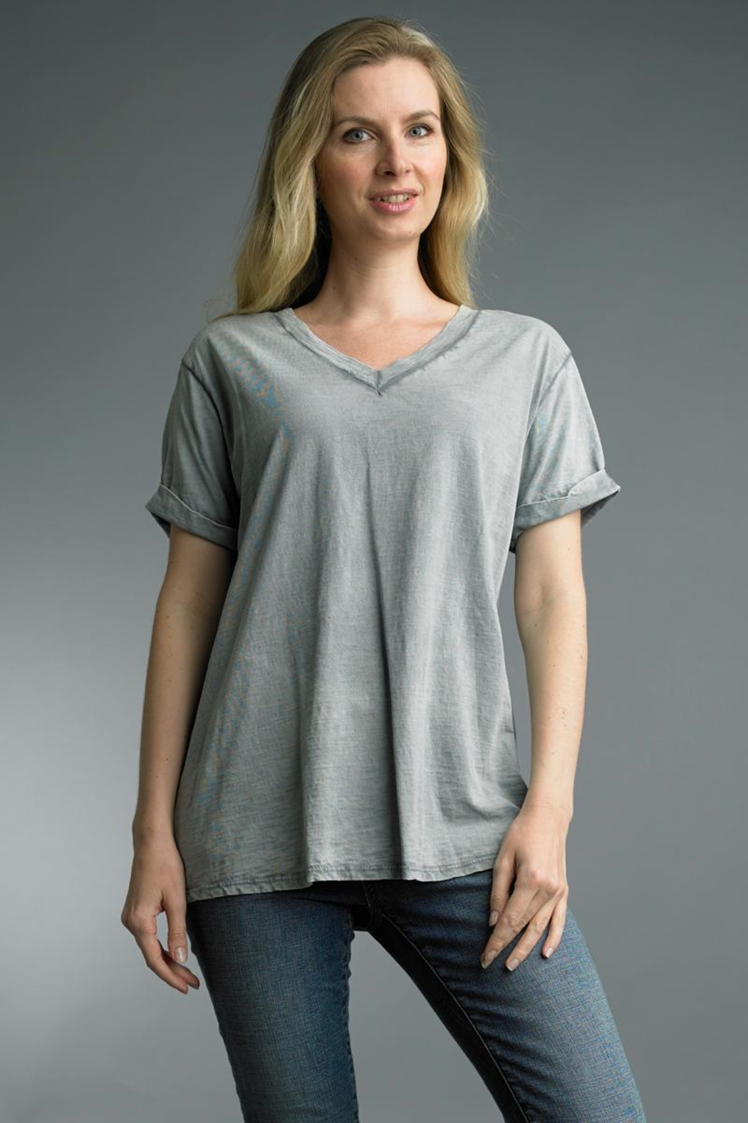 Tempo Paris Washed Cotton Tee - Main Image