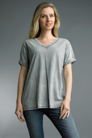 Tempo Paris Washed Cotton Tee - Front cropped