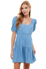 TCEC Tencel  Babydoll Dress - Front cropped